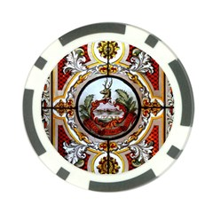 Stained Glass Skylight In The Cedar Creek Room In The Vermont State House Poker Chip Card Guard