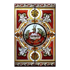 Stained Glass Skylight In The Cedar Creek Room In The Vermont State House Shower Curtain 48  x 72  (Small)