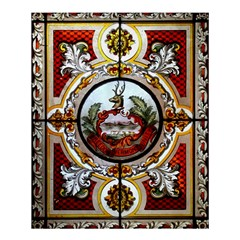 Stained Glass Skylight In The Cedar Creek Room In The Vermont State House Shower Curtain 60  x 72  (Medium)