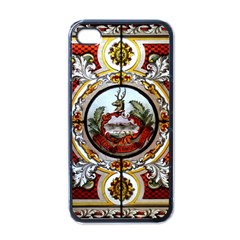 Stained Glass Skylight In The Cedar Creek Room In The Vermont State House Apple iPhone 4 Case (Black)