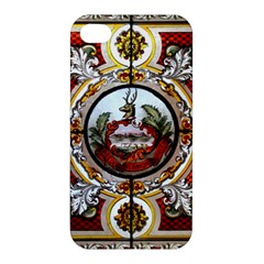 Stained Glass Skylight In The Cedar Creek Room In The Vermont State House Apple Iphone 4/4s Premium Hardshell Case