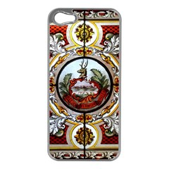 Stained Glass Skylight In The Cedar Creek Room In The Vermont State House Apple iPhone 5 Case (Silver)