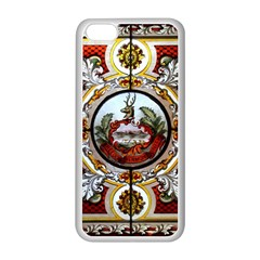 Stained Glass Skylight In The Cedar Creek Room In The Vermont State House Apple iPhone 5C Seamless Case (White)