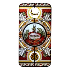 Stained Glass Skylight In The Cedar Creek Room In The Vermont State House Samsung Galaxy S5 Back Case (white)