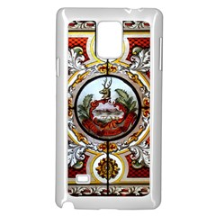 Stained Glass Skylight In The Cedar Creek Room In The Vermont State House Samsung Galaxy Note 4 Case (White)