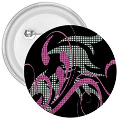 Violet Calligraphic Art 3  Buttons