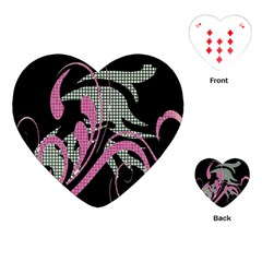 Violet Calligraphic Art Playing Cards (Heart)