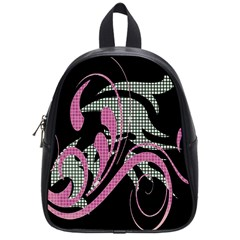 Violet Calligraphic Art School Bags (Small)