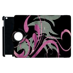 Violet Calligraphic Art Apple iPad 3/4 Flip 360 Case