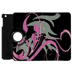 Violet Calligraphic Art Apple iPad Mini Flip 360 Case