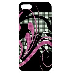 Violet Calligraphic Art Apple iPhone 5 Hardshell Case with Stand