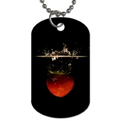 Strawberry Dog Tag (Two Sides)