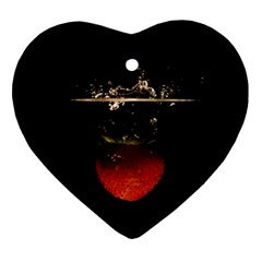 Strawberry Heart Ornament (Two Sides)