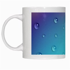 Water Droplets White Mugs