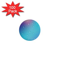 Water Droplets 1  Mini Buttons (100 pack)
