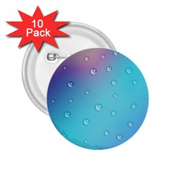Water Droplets 2.25  Buttons (10 pack)