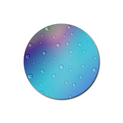 Water Droplets Rubber Round Coaster (4 pack)