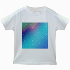 Water Droplets Kids White T-Shirts