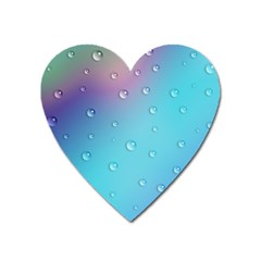 Water Droplets Heart Magnet