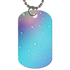 Water Droplets Dog Tag (Two Sides)