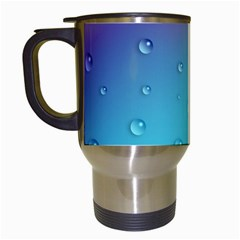 Water Droplets Travel Mugs (White)