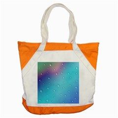Water Droplets Accent Tote Bag