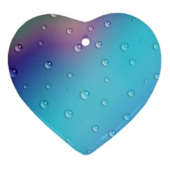 Water Droplets Heart Ornament (Two Sides)
