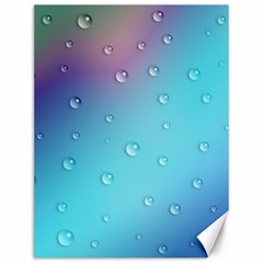 Water Droplets Canvas 12  x 16