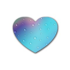 Water Droplets Heart Coaster (4 pack)