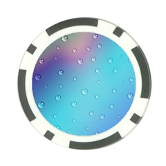 Water Droplets Poker Chip Card Guard