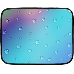 Water Droplets Double Sided Fleece Blanket (Mini)