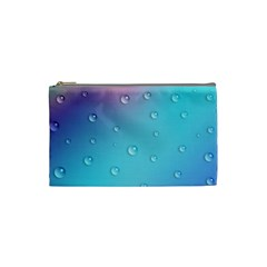 Water Droplets Cosmetic Bag (Small)