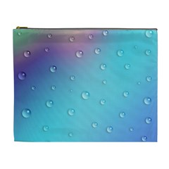 Water Droplets Cosmetic Bag (XL)