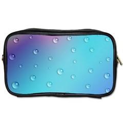 Water Droplets Toiletries Bags