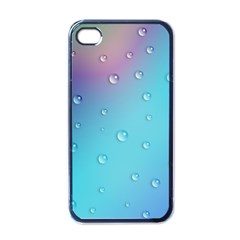 Water Droplets Apple iPhone 4 Case (Black)