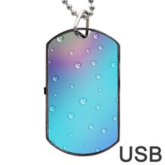 Water Droplets Dog Tag USB Flash (One Side)