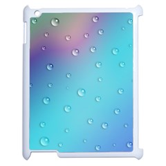 Water Droplets Apple iPad 2 Case (White)
