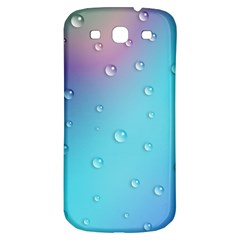 Water Droplets Samsung Galaxy S3 S III Classic Hardshell Back Case