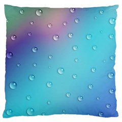 Water Droplets Large Flano Cushion Case (Two Sides)