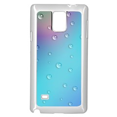 Water Droplets Samsung Galaxy Note 4 Case (White)
