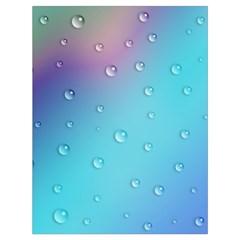 Water Droplets Drawstring Bag (Large)