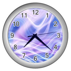 Abstract Graphic Design Background Wall Clocks (Silver)