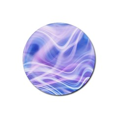 Abstract Graphic Design Background Rubber Coaster (Round)