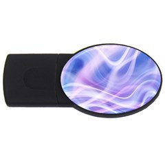 Abstract Graphic Design Background USB Flash Drive Oval (1 GB)