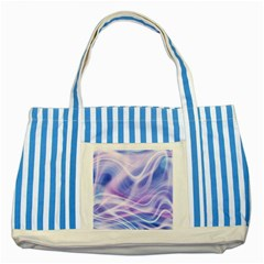 Abstract Graphic Design Background Striped Blue Tote Bag