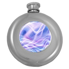 Abstract Graphic Design Background Round Hip Flask (5 oz)