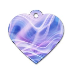 Abstract Graphic Design Background Dog Tag Heart (One Side)
