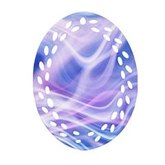Abstract Graphic Design Background Oval Filigree Ornament (Two Sides)