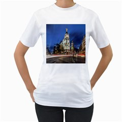 Architecture Building Exterior Buildings City Women s T-Shirt (White) (Two Sided)