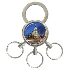 Architecture Building Exterior Buildings City 3-Ring Key Chains